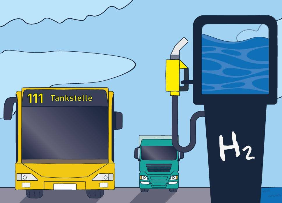 ÖPNV, Öffentlicher Personennahverkehr, Elektrifizierung, Co2 Reduzierung, Wasserstofftechnik, Brennstoffzellentechnik,